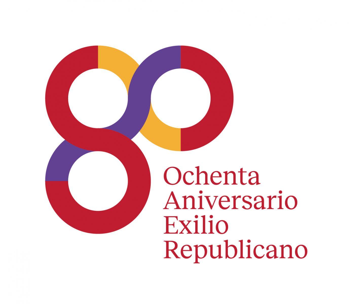 Resultado de imagen de logo 80 años del exilio republicano