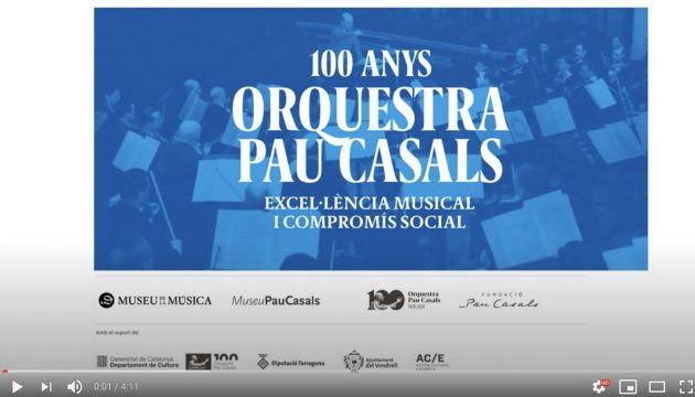Bienvenida a la exposición 100 años de la Orquesta Pau Casals