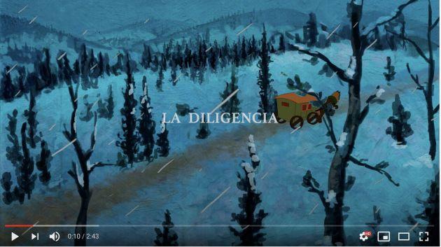 """La diligencia. Audiovisual de la exposición """"Concepción Arenal. La pasión humanista'"""