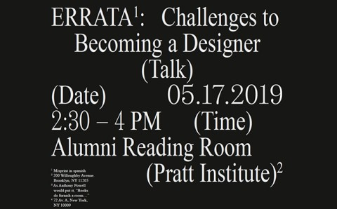 Errata: Books Do Clutter a Room. NYC x Design 2019